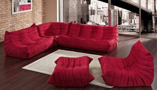 Awesome Lexington Modern Waverunner Modular Sectional Sofa Set Red 5 Evergreenethics Interior Chair Design Evergreenethicsorg
