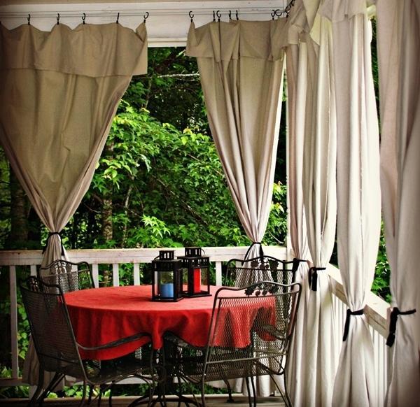 Cortina de exterior viste tu porche como tu casa - Cortinas de loneta ...