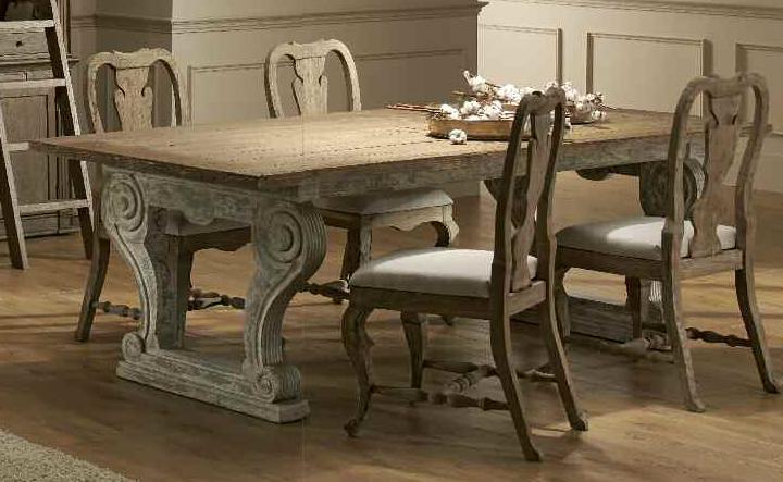 Muebles de madera lavada for Mesas de comedor coloniales