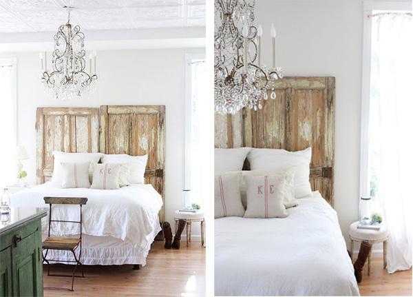 Decorar con puertas y contraventanas recuperadas - Cabeceros de cama antiguos ...