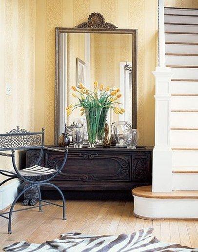 Recibidores mostrar tu hogar en un solo vistazo - Como decorar un baul de madera ...