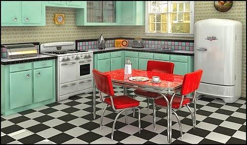 Original cocina estilo retro.