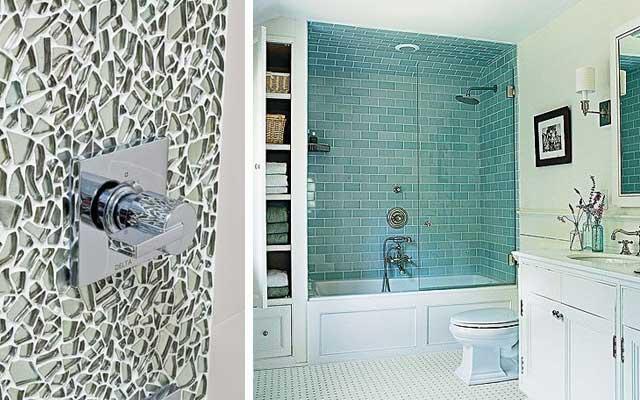 El cristal en el bano 22 - Decoracion banos azulejos ...