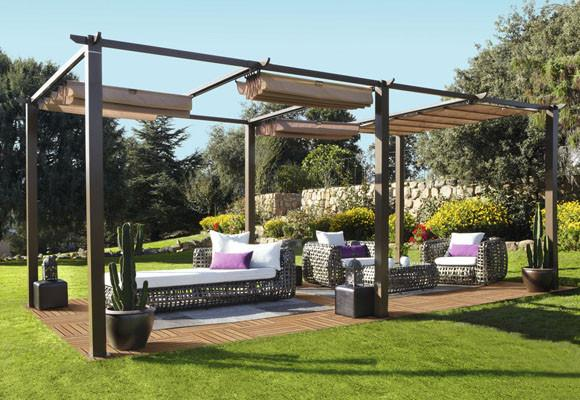 25 amazing imagenes de pergolas de jardin. Black Bedroom Furniture Sets. Home Design Ideas