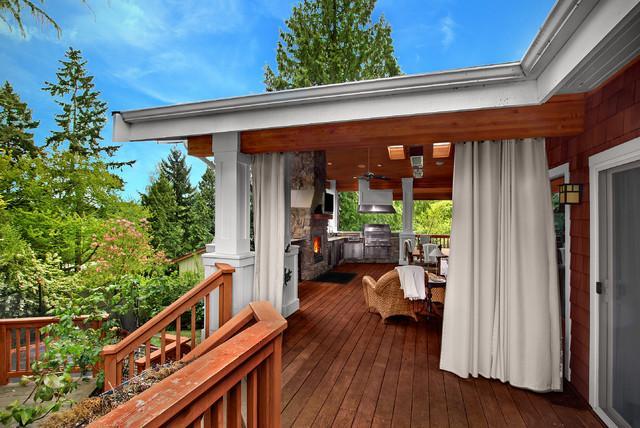 Cortina de exterior viste tu porche como tu casa - Decorar porche pequeno ...