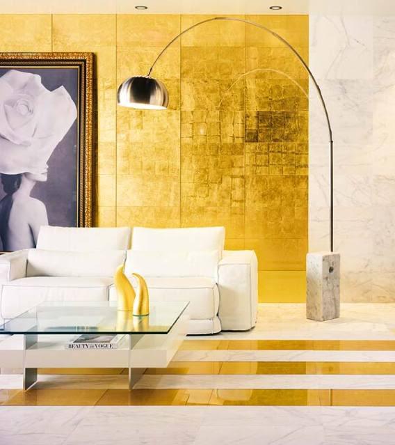 Paredes doradas - Pintura dorada para paredes ...
