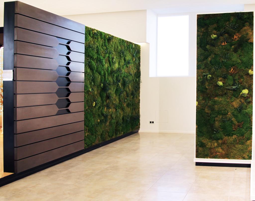 Jardines verticales en el interior for Decoracion en madera para pared