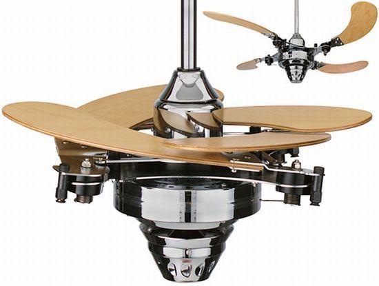 Modelo de ventilador de palas plegables.