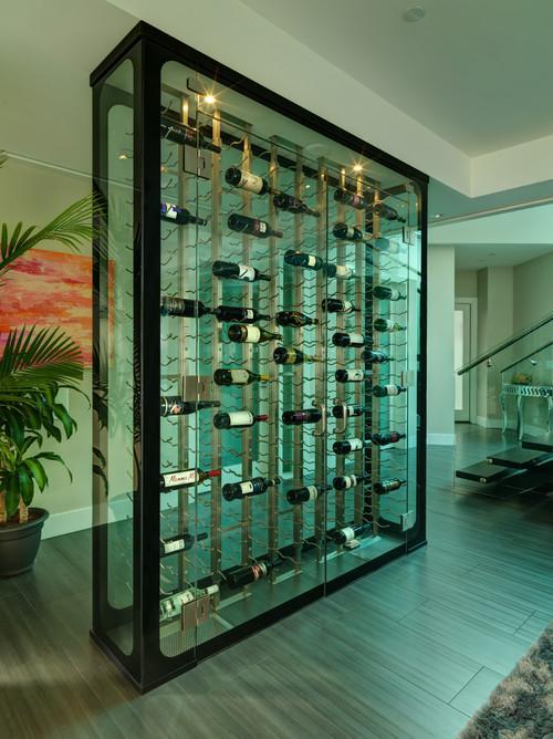 Como una moderna columna de cristal.