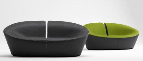 "El modelo ""True Love Swivel Sofá"". Está diseñado por Busk & Hertzog, de Globe Zero 4."