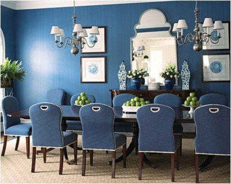 Paredes en azul elegante y sofisticado - Combinacion de colores para comedor ...