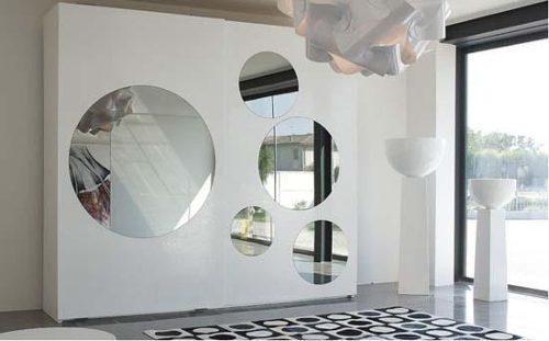 Espejos redondos for Espejo grande dormitorio