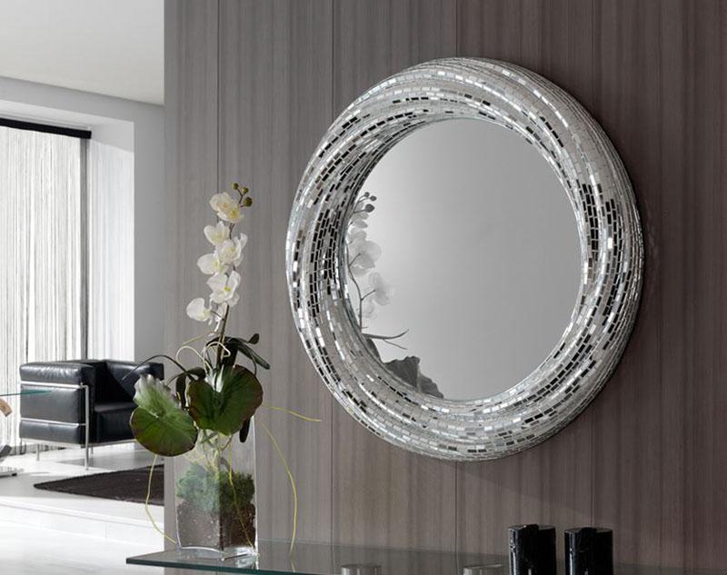 Espejos redondos for Espejos redondos con marco de madera