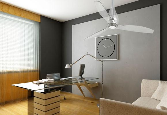 Diseño de ventilador transparente.