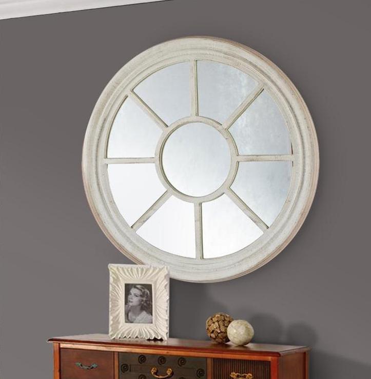 Espejos redondos for Espejos de madera redondos