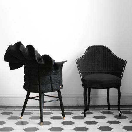 Sillones de la colección Coat, diseños de Fredrik Färg.