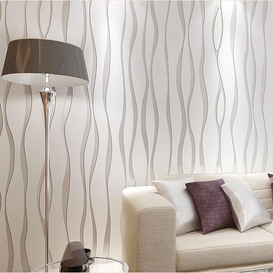 Decorar paredes con plata - Papel pintado color plata ...
