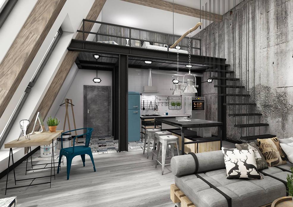 Lofts el industrial m s c lido - Como decorar un loft ...