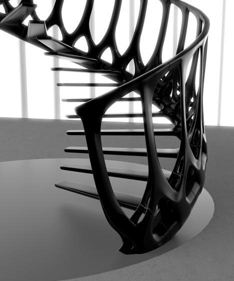 La Vertebrae Staircase diseñada por Andrew McConnell.