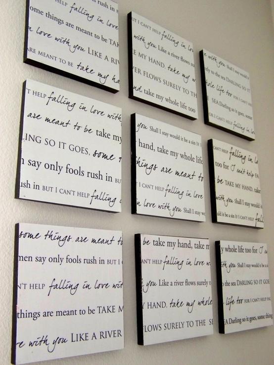 Un conjunto de cuadros para formar un gran texto.
