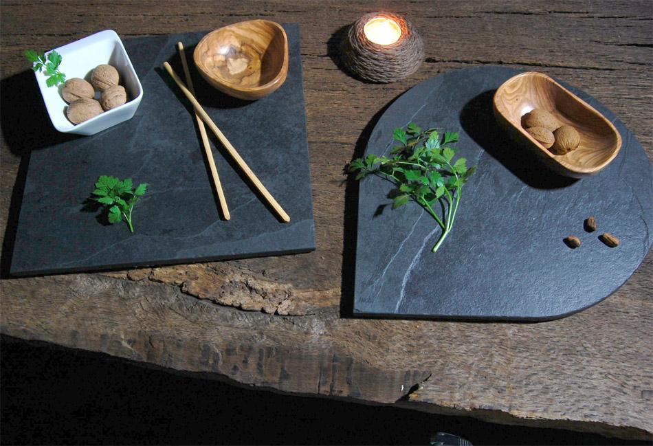 Originales platos realizados con esta piedra natural.