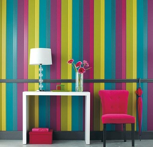Papeles pintados rayas verticales fabulous saln pintado - Papel pintado rayas ...
