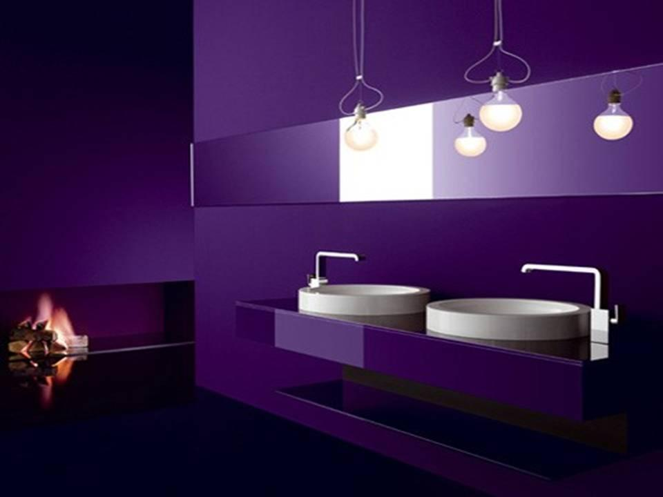 Del violeta al morado Purple and black bathroom ideas