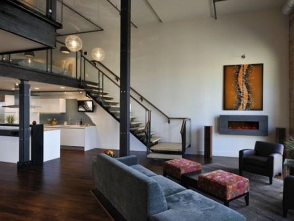 Decoración de marcado estilo urbano para este moderno loft.