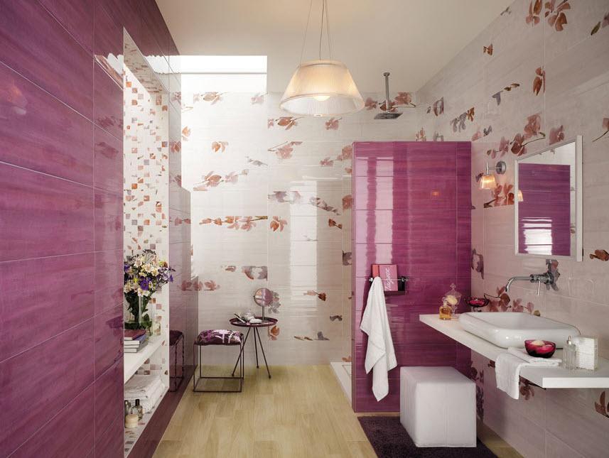 Diseño-de-cerámica-cuarto-de-baño-para-señoritas - Decorar.net