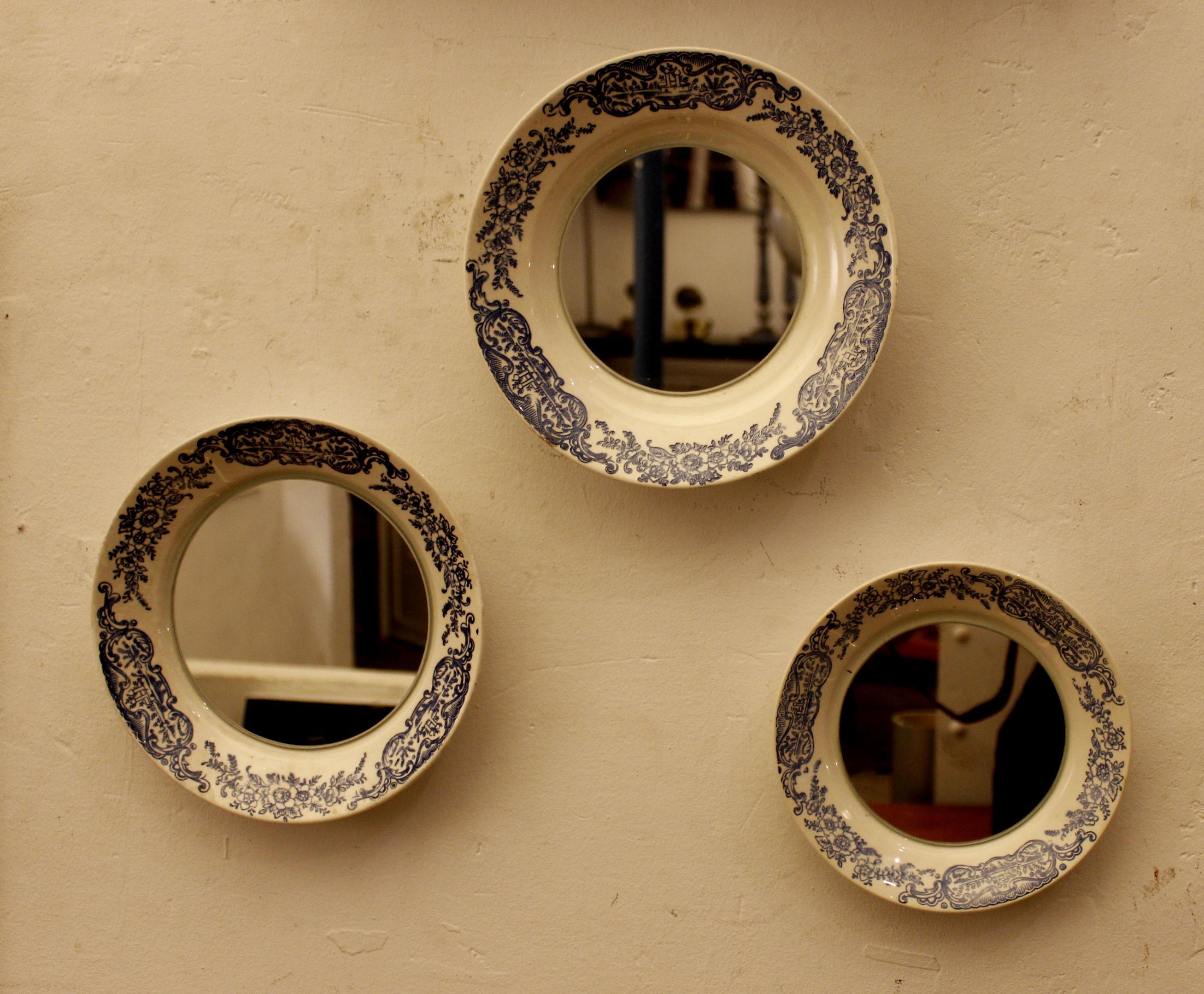 Espejos redondos de originales dise os for Conjunto espejos redondos