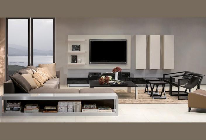 Limpieza de lineas y continuidad en los tonos elegidos para vestir este salón.
