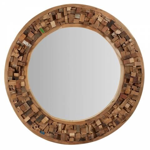 Espejos redondos de originales dise os for Espejos de madera redondos