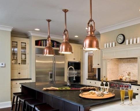 L mparas de cobre for Cocinas industriales siglo