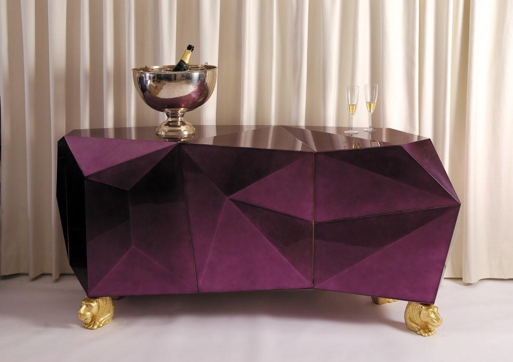 Diamond Sideboard se llama esta cómoda, que diseña la firma Boca do Lobo.