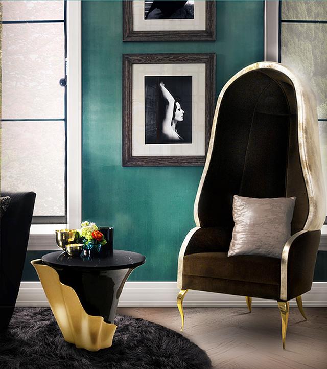 Otra de las piezas de la película, es la Drapesse Chair con sus formas envolventes.