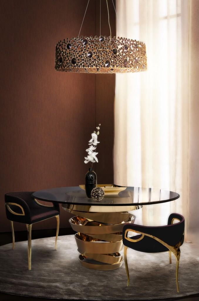 El nombre de esta lujosa lámpara es Eternity Chandelier.