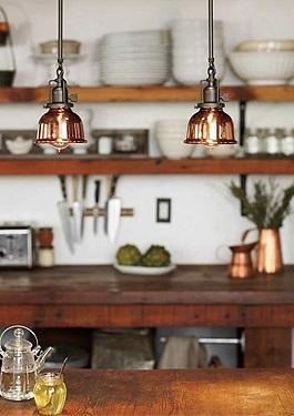 L mparas de cobre - Lamparas colgantes para cocina ...