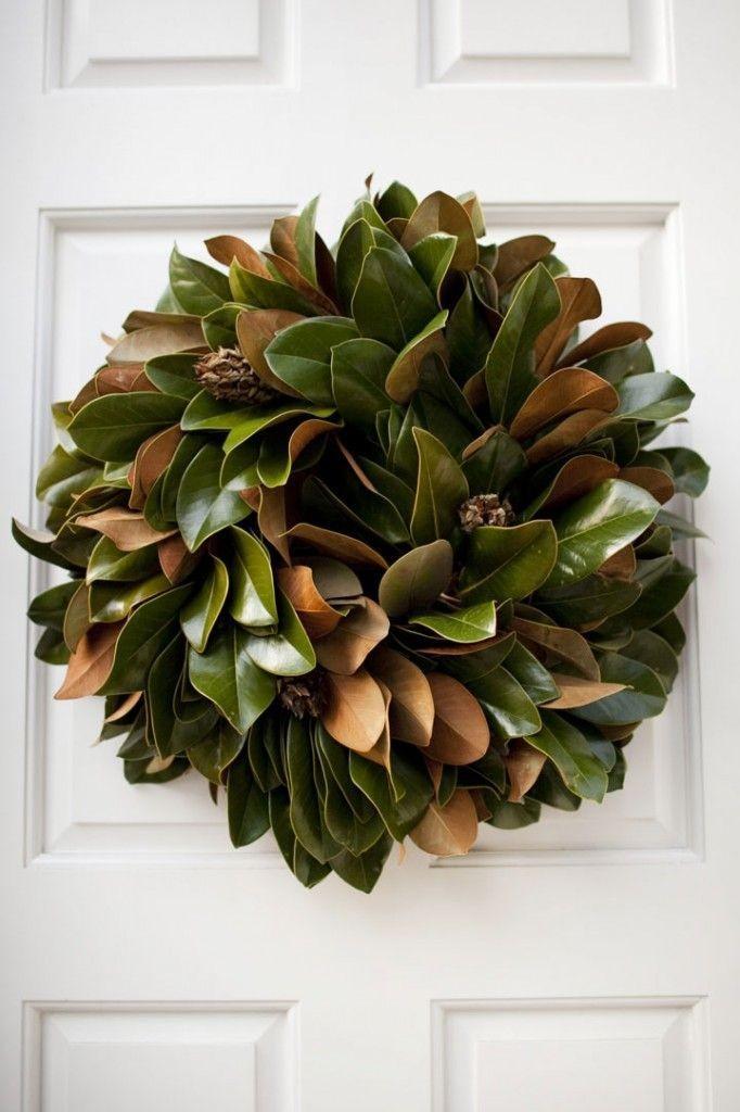 Este diseño, que se compone únicamente, con las grandes hojas de un magnolio.
