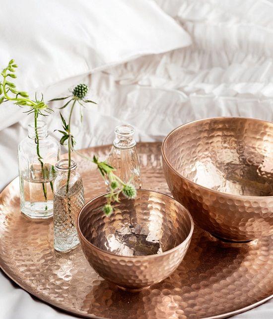 Decorando con tonos cobrizos - Objetos fabricados con cobre ...