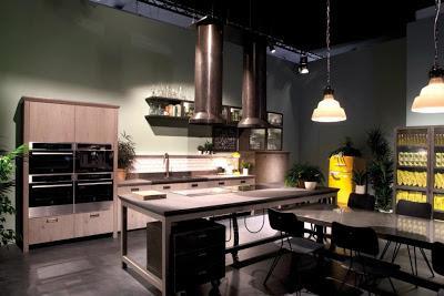 Una moderna cocina,  diseñada por los creativos de la firma Diésel.