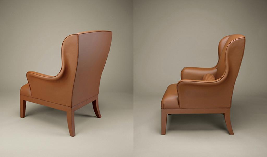 Un ejemplo de pieza de diseñadores de moda, que se atreven con los muebles, es esta butaca de Botegga Veneta.