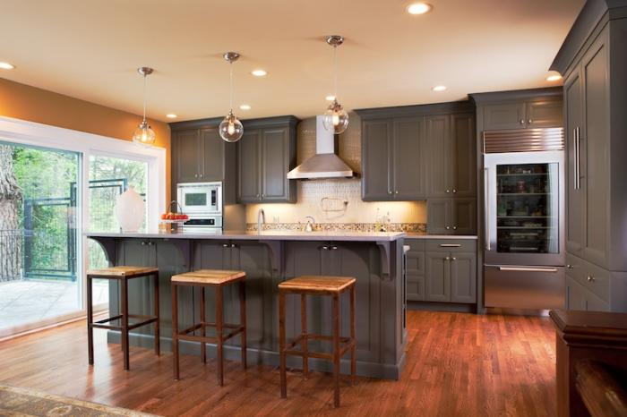 10 cocinas en madera y gris - Cocinas con suelo gris ...