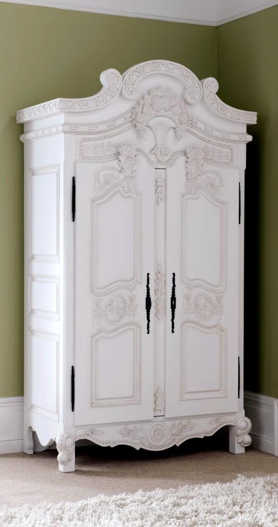 Armarios vintage - Muebles antiguos lacados en blanco ...