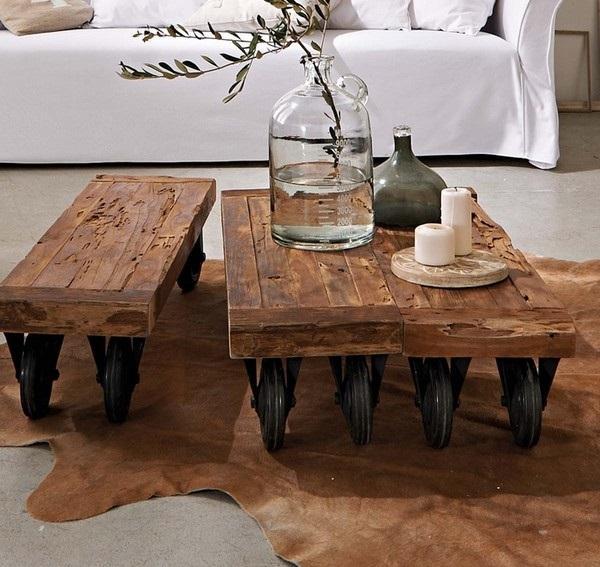 Mesas centro rusticas mesa de centro rustica mesas de for Mesas antiguas rusticas