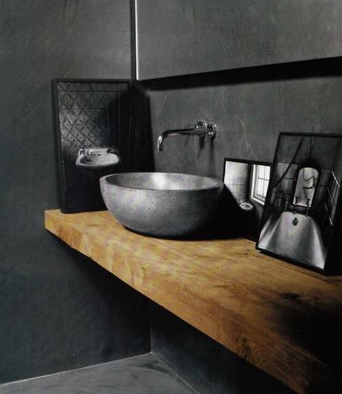 12 ideas para combinar la madera y cemento for Cera de hormigon para azulejos de bano