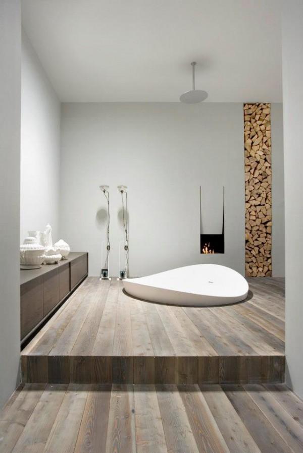 Un moderno cuarto de baño ideado por el diseñador Antonio Lupi.