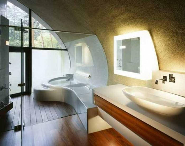 Un moderno cuarto de baño creado por ARTechnic Architects para las Shell Villas de Japón.