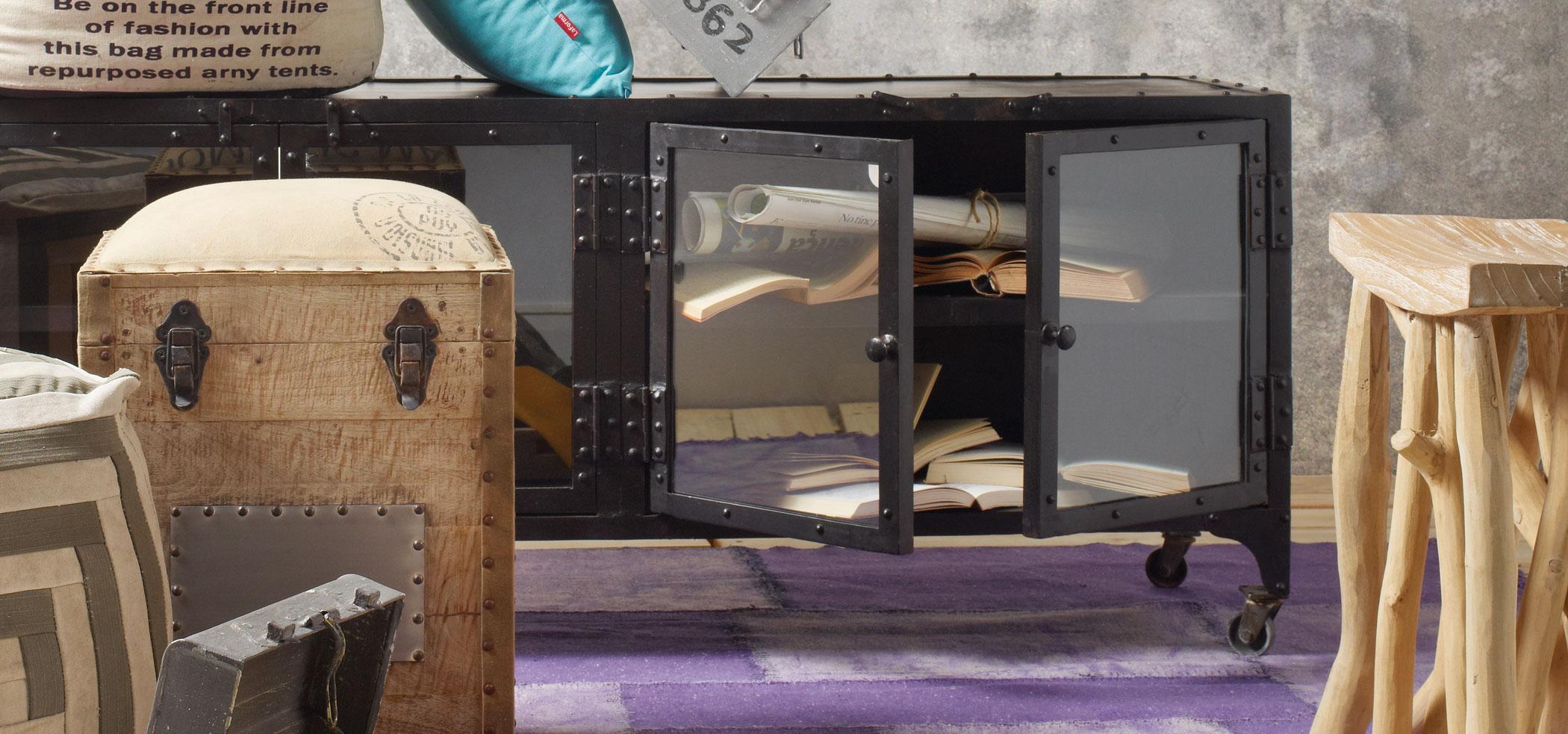 Consolas de estilo industrial for Aparador estilo industrial