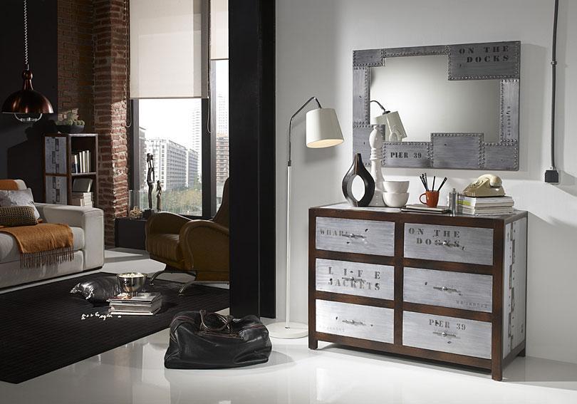 Recibidores de estilo industrial for Espejo estilo industrial