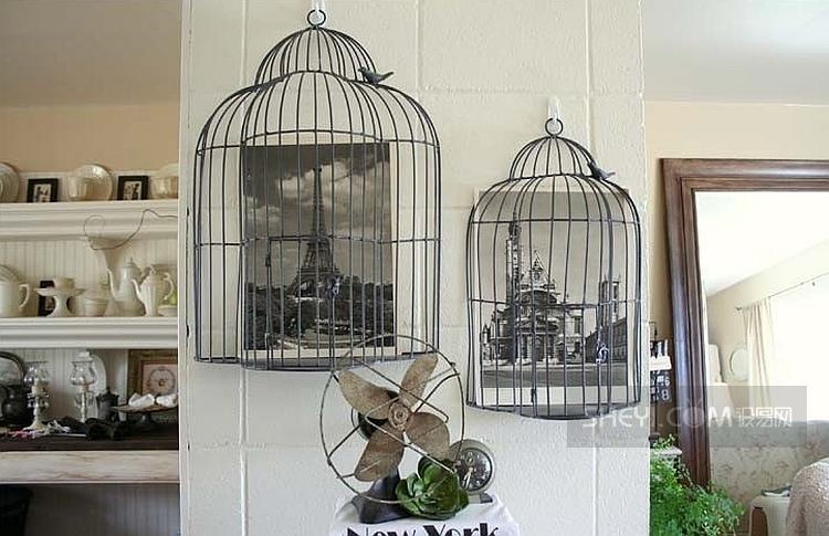 Medias jaulas, como originales marcos para lucir fotografias.